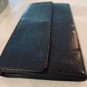 LOUIS VUITTON Midnight Leather Wallet